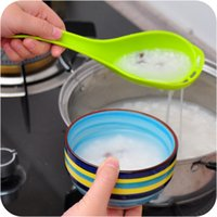 Wholesale 2 In High temperature filtration soup spoon leakage long handled spoon Dinnerware Cooking Tools Kitchen Accessories