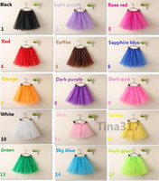 Wholesale New colors Top Quality candy color kids skirt dance soft tutu skirts ballet skirt layers children pettiskirt clothes