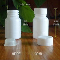 Screw Cap acid rounds - 30g ml cm cm HDPE Packaging Bottles Big Round Bottles Sample bottle with inner cap resistance to acid and alkali Carton