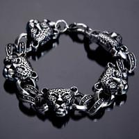antiques direct - Factory Direct Fashion Jewelry Antique Leopard Charm Bracelet Alloy Bracelet Punk Bracelet For Christmas Gift Price