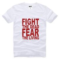 Cheap WISHCART Fight The Dead Fear The Living The Walking Printed Mens T Shirt Tshirt Fashion Cotton T-shirt Tee Camisetas Hombre