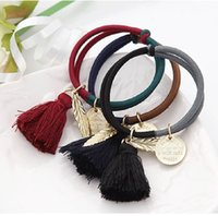 Wholesale korean fashion tassel women girls elastic hair rubber bands ties headwear ring rope accessories for women scrunchie ornaments DHF823