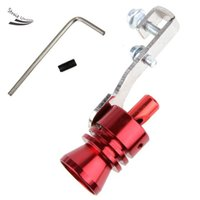 Wholesale Car Exhaust System Parts Turbo Sound Whistle Muffler Exhaust Pipe Blow off Vale BOV Simulator Whistler Red Size L b8
