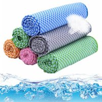 bamboo towel sets - Bamboo fiber Cooling Towel Camping Hiking Gym Exercise Workout Towel Ice Fabric Soft Breathable Cool Sports Towel Medical cool towel LJJG403