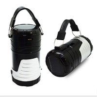 Wholesale Camping Lantern Solar Rechargeable Collapsible LED Camping Light Handheld Flashlight in the Bottom for Hiking Camping Fishing
