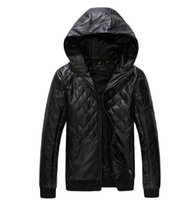 Wholesale Fall new Men s Leather Jacket male leather Jaqueta Couro Masculino Bomber Biker leather Jackets For Men winter hoodies outerwear