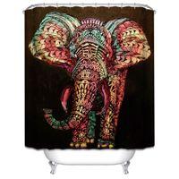 achat en gros de x w-Douane 36/48/60/66/72/80 (L) x 72 (H) Inch rideau de douche Afrique Elephant rideau de douche en polyester étanche