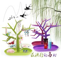 Wholesale Bird multifunctional jewelry holder accessories display rack earring rack ring frame bracelet storage tree shelf
