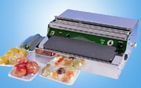 auto wrapper - semi auto tray sealing machine quot WIDE TRAY PLASTIC FILM WRAPPER SEALER MACHINE