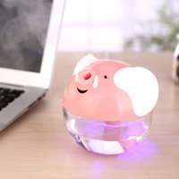 air cleaner room purifier - Lucky Pig MINI USB Humidifier Pink White Air Purifier Aroma Diffuser for Home Room Car Cute Home Appliances Air Cleaning