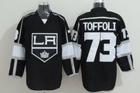 angeles team - Cheap Tyler Toffoli LA Kings Hockey Jerseys Los Angeles Kings Sports Team Color Black Pure Cotton Breathable Embroider Quality