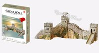 Wholesale Kids Toys D Puzzle Beneficial to wisdom The Great Wall China DIY Jigsaw Puzzle Educational Toys Paper Model