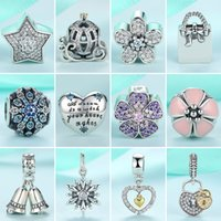 Wholesale Sterling Silver Christmas Charms Pulseira Floating Beads Fits Pandora Bracelets Diy Charms for Jewelry Making