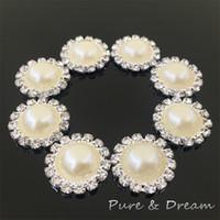 rhinestone buttons - Creamy colors Flatback Diamond Rhinestone Crystal Pearl Cluster Scrapbooking Craft Hair Jewelry Brooches Rhinestone Butt