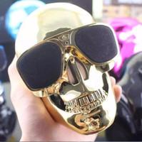 bass skull - New Halloween Portable Skull Bluetooth Speaker Skull Head Ghost Wireless Stereo Subwoofer Mega Bass D Stereo Hand free Audio Player