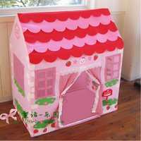 Wholesale kids tent toy mini strawberry house play happy in your own territory big size cm cloth good material good gift for girl