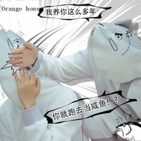 Wholesale Kantai Collection The King Of Salted Fish Shapeshifting Spoof Cosplay Leisure Wear Animation Products Funny Clothes