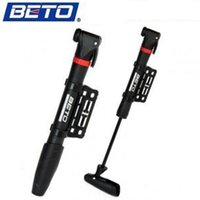 Wholesale BETO High end Bicycle Pump Mini Mountain Bike Portable High pressure Inflator Hose Screw Type Inflatable Pump Black