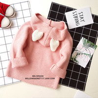Wholesale Sweaters Wholesale Design - INS New Cute Kids Girls Knitted Bunny ears Cardigan Sweaters Caped Poncho Design Fall Winter Jackets Outwears Wholesale Rabbit Crochet coats
