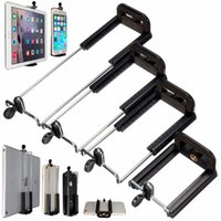 Wholesale New Arrived Top Quality Selfie Sticks Screw Clip Bracket Mount Holder To Camera Tripod For iPhone For iPad inch Tablet Types