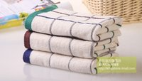 Wholesale Freeshipping pieces sale hot new cotton cm face towel high quality Baili lattice pure jacquard yarn