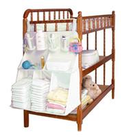 baby storage furniture - Home Cloth Storage Bag Baby Bed Hanging Shelf Diaper Nappy Bottle Toy Organization Nursery Closet Furniture Accessories Supplie
