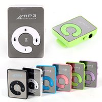 Wholesale New Mini Mirror Clip USB Digital Mp3 Music Player Support GB SD TF Card Colors A57