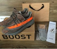 b bags cottons - 2017 kanye west shoes V2 Sply Boost men s shoes Orang Stripe Grey black Running Shoes Keychain Socks Bag Receipt Original Boxes