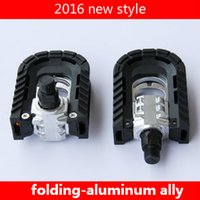 Wholesale 2016 New Style Aluminum Ally Folding Bicycle Pedals Good Quality Bike Pedals