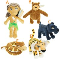 animals jungle book - The Jungle Book Plush Toys Five Style The Tiger Panther Python Wolf Child Brown Bear Stuffed Animals Plush Toys Dolls