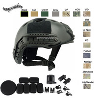 Wholesale Outdoor Equipment Airsoft Paintabll Shooting Helmet Head Protection Gear ABS Simple Version PJ Fast Tactical Airsoft Helmet