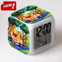 bear senses - Pooh Bear Alarm Clock Led Light Color Change Projeksiyon Saat Masa Saati Projection Clock Square Digital Thermometer