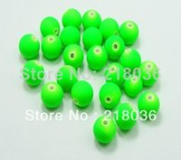 Wholesale HOT Matte Neon Green Color Acrylic Round Beads mm Rubber Tone DIY Jewelry M963