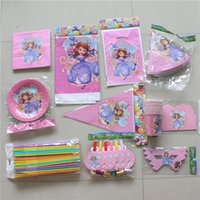 baby shower favors themes - for people kids girls birthday party decorative sofia princess cartoon theme disposable tableware baby shower favors