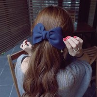 Wholesale New Arrival Big Solid Cloth Bows Hair Clips Hairpins Hair Accessories for Women Girl Wedding Hair Jewelry