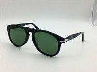 big black fold - Persol sunglass oversized sunglasses pilot shape plastic frame retro men design glasses lens big frame folding design large size mm