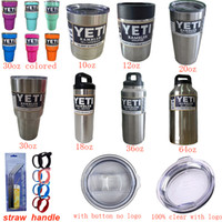 Wholesale YETI oz oz oz oz oz oz oz Bottle Cup Mug Ounce Colster Spillproof Matte Coated Painted Colored pamphlets Clear Lid