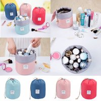 Wholesale Women Lady Pouch Bucket Barrel Shaped Cosmetic Makeup Bag Travel Case