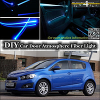 aveo lights - For Chevrolet Aveo Sonic Interior Light Tuning Atmosphere Fiber Optic Band Ambient Light Inside Door Cool Strip Light Refit