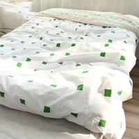 Wholesale 100 Cotton Duvet Cover Fabric Colourful Single Twin double Queen King Size Housse De Couette Simple Kids Comforter Cover