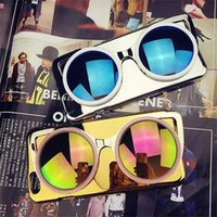 Wholesale New Arrival Fashion Novel Cool Phone Case Colorful D Catoon Handsome Sunglass Mirror Hard Back Cover For Iphone S Plus