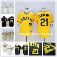 baseball black - Roberto Clemente Jersey Flexbase New Cooperstown Yellow Camo White Black Grey Pittsburgh Pirates Jerseys Baseball Stitched