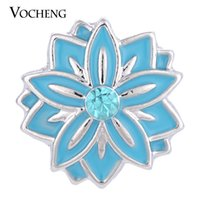 alloy paint colors - VOCHENG NOOSA Snap Charms Colors Hand Painted mm Button Jewelry Vn