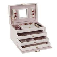 armoire storage - Necklace Ring Storage Case Armoire Organizer White Large Vintage Jewelry Box