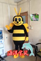 Wholesale Lovely Honey Bee Mascot costume Brand new