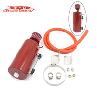 Wholesale SR Universal Aluminum Round Racing Car Oil Catch Tank Reservoir Can With Air Filter Red ML