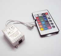 Wholesale 24 Keys RGB Controllers W IR Remote Controller V for LED RGB SMD Light Strip