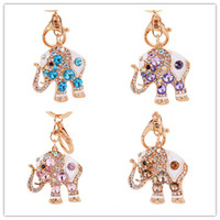 amazing elephants - Amazing Elephant Crystal Bag Pendant Purse Bag Buckle Trendy Key Chains Holder Keyrings Keychains For Car