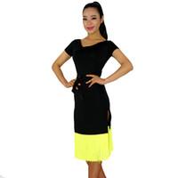 ballroom dance clothes for women - Latin Dance Dress Women Ballroom Dance Skirts Clothing For Dance Dance Wear Regatas Femininas Vestido De Baile Latino