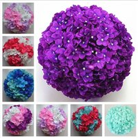 Wholesale 11 inch artificial hydrangea flower ball pincushion wedding ball kissing ball hangings ball for Christmas Ornaments Wedding Party Decoration